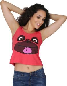 Imagica Casual Sleeveless Printed Women's Pink Top