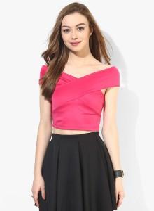 6477c3844dac28 Veni Vidi Vici Casual Short Sleeve Solid Women s Pink Top Best Price ...