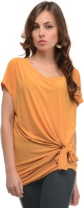 Mayra Casual Short Sleeve Solid Women's Yellow Top