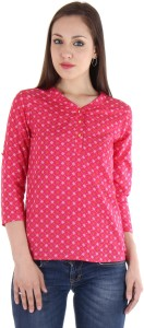 Vvoguish Casual 3/4th Sleeve Solid Women's Pink Top