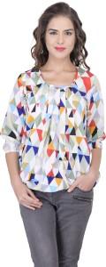 Faireno Casual 3/4th Sleeve Printed Women's Multicolor Top