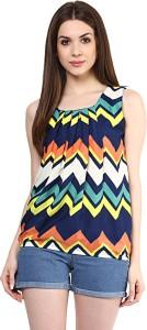 Mayra Casual Sleeveless Geometric Print Women's Multicolor Top