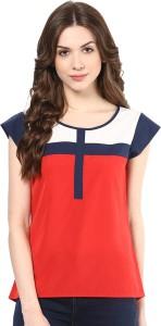 Avoir Envie Casual Sleeveless Solid Women's Multicolor Top