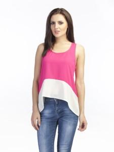 Schwof Casual Sleeveless Solid Women's Pink Top