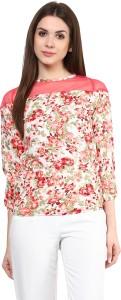 Mayra Casual 3/4th Sleeve Printed Women's Pink Top