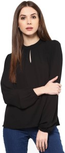 The Bebo Casual Full Sleeve Solid Women's Black Top