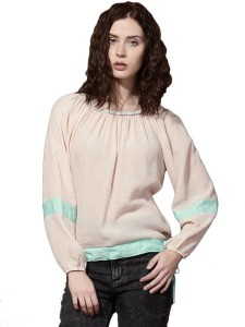 Roadster Casual 3/4th Sleeve Solid Women's Orange Top
