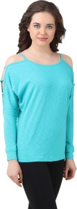 Texco Casual Full Sleeve Solid Women's Light Blue Top
