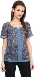 Avoir Envie Casual Short Sleeve Printed Women's Multicolor Top