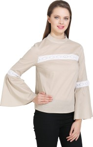 32862830e14a19 Gudi Casual Full Sleeve Lace Women s Brown Top Best Price in India ...