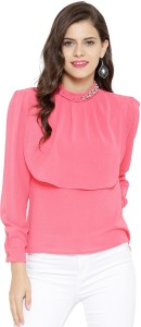 Sassafras Casual Full Sleeve Embellished Women's Pink Top