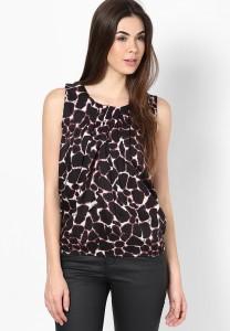 Mayra Casual Sleeveless Animal Print Women's Brown Top