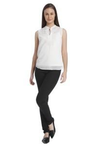 bbe0f877b5c Vero Moda Casual Sleeveless Solid Women s White Top Best Price in India | Vero  Moda Casual Sleeveless Solid Women s White Top Compare Price List From Vero  ...
