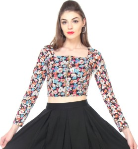 Zastraa Casual Full Sleeve Floral Print Women's Multicolor Top