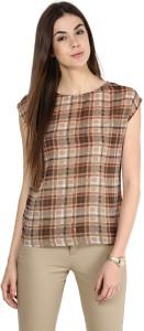 La Zoire Casual Short Sleeve Printed Women's Multicolor Top