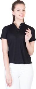 Khhalisi Party Short Sleeve Printed Women's Black Top