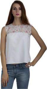 Marzeni Casual Sleeveless Printed Women's Multicolor Top