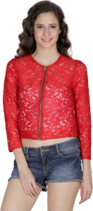 Mayra Party 3/4th Sleeve Solid Women's Red Top