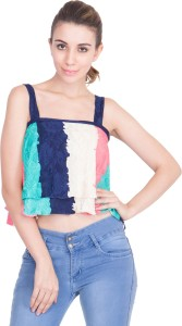 Khhalisi Party Sleeveless Printed Women's Multicolor Top