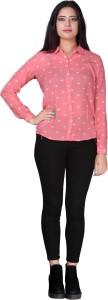 Secret Bazaar Casual Full Sleeve Solid Women's Pink Top