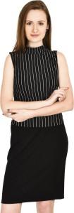 Six7 Formal Sleeveless Striped Women's Black, White Top