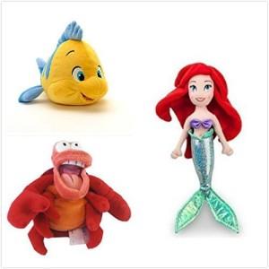 Disney Official Exclusive The Little Mermaid 3 Pcs Plush Set 12