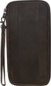 Kan Brown Hunter Leather Fashion Travel Document Holder/Organizer For Men and Women