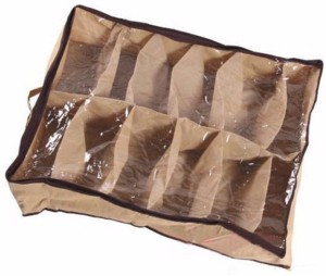 Shrih 12 Grids Shoes Storage Bag With Transparent Cover