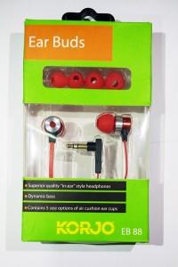 Korjo EB 88 EAR BUDS - RED