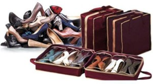 Kartsasta Portable Shoes Tote Shoes Organizer Shoes Storage Bags Hold 6 pairs