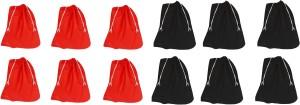 DE MODA Travel Bags Shoe Bags(Pack of 12-6 Black,6 Red)
