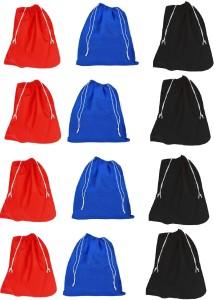 DE MODA Shoe Bag(Pack of 12- 4 Red,4 Black,4 Blue)