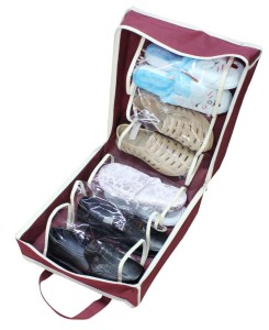 KGNannexe Shoe Tote Organizer To Hold 6 Pair Of Shoes - Portable Travel Pouch for carrying