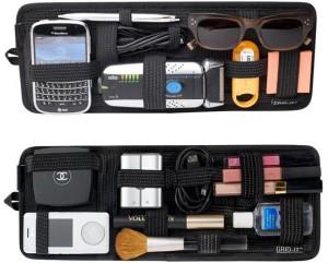 PackNBUY Car Visor Grid Pad for Electronics Cosmetics Tool Organizer