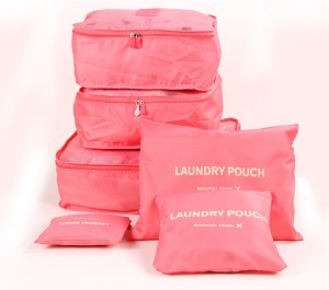 PackNBUY 6 In 1 Waterproof Travel Laundry Pouch Bags Organizer