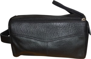 Kan Style 98 Black Premium Quality Leather Hand Bag For Men Travel Toiletry  KitMulticolor 7eebb800e275d
