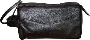 Kan Style 98 Black Premium Quality Leather Hand Bag For Men Travel Toiletry  Kit cdea9fb6c184c