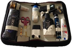 Toprun Thunder Denim Gold Travel Shaving Kit