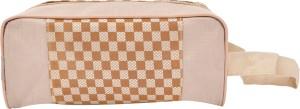 PSH single zip plain cheak Travel Shaving Bag