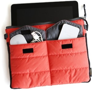 Everyday Desire Gadget Pouch Multi Functional Storage Organizer Bag Zip & Cushion Protection for Ipad Tablet iphones - Red Travel Toiletry Kit