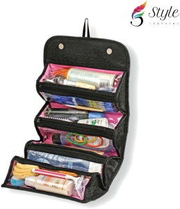 Style Feathers Roll-n-go-kit-Black Travel Toiletry Kit