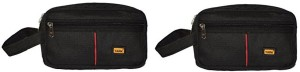 Yark MultiUtility Pouch (Black)-Set Of 2 Travel Toiletry Kit