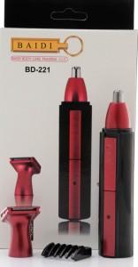 Baidi BD-221 Nose Ear Eyebrow & Beard Shaver Cordless Trimmer