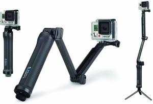GoPro 3-Way Grip, Arm, Tripod Monopod, Selfie Stick