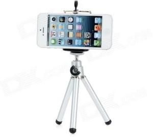 Outre Adjustable Mini Mobile Phone Camera Stand Clip Bracket Holder Tripod