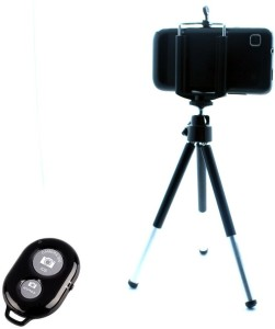 Smiledrive Universal Mobile Tripod with Bluetooth Shutter Clicker - Fits all Mobiles Monopod
