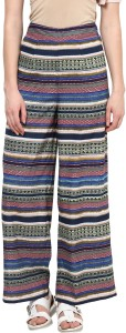 Harpa Regular Fit Women's Multicolor Trousers