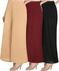 NGT Regular Fit Women's Beige, Maroon, Black Trousers