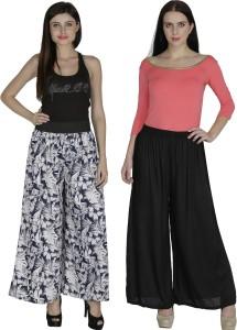 Shopingfever Regular Fit Women's White, Black Trousers