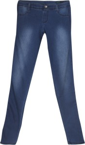 United Colors of Benetton Skinny Fit Women's Blue Trousers